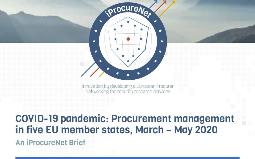 First iProcureNet Brief is out: COVID-19 emergency procurement in the EU