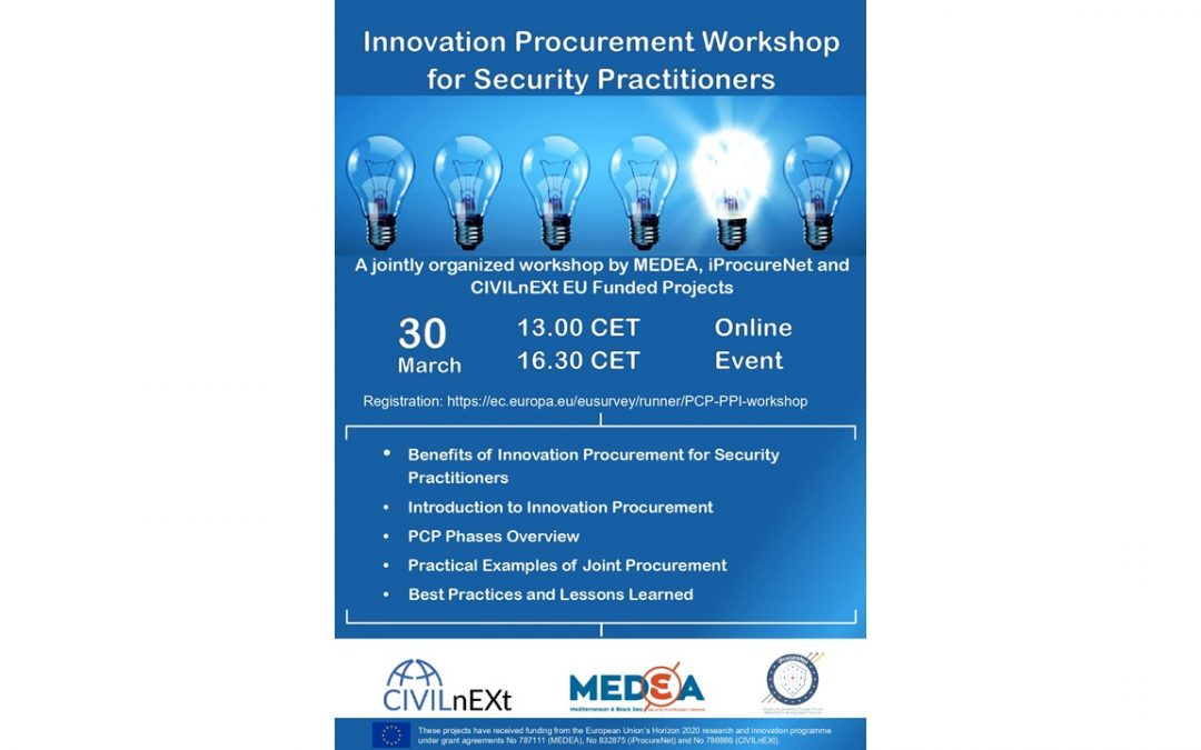 Innovation Procurement Workshop for Security Practitioners workshop: Presentations online