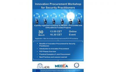 Innovation Procurement Workshop for Security Practitioners workshop: Videos online