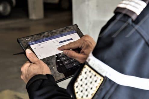 iprocurenet tablet screen police